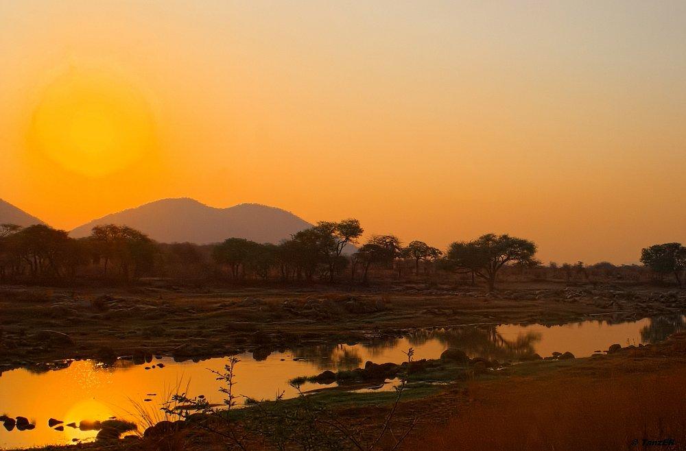 Sonnenuntergang am Ruaha