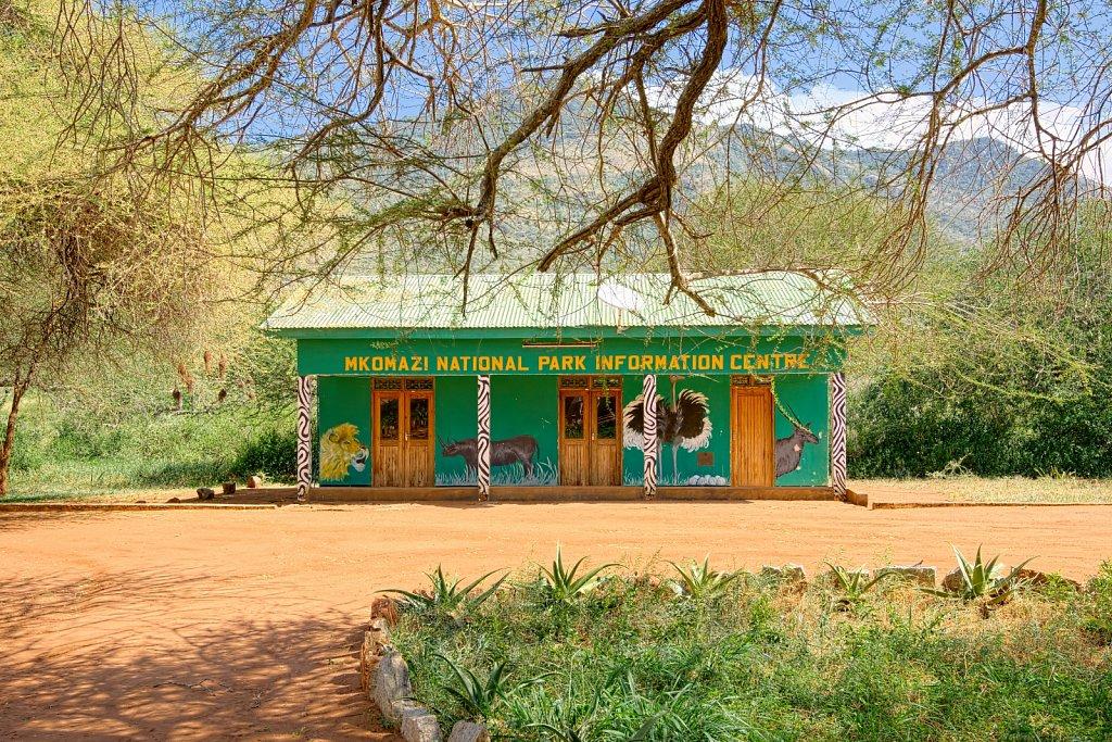 Info-Center beim Zange-Gate zum Mkomazi